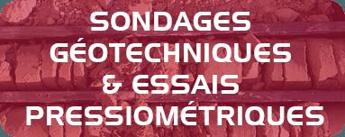 Sondages géotechniques et essais pressiométriques.